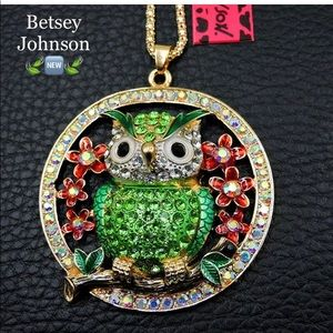 Betsey Johnson Cute Owl Necklace 🆕🌿🆕🌿